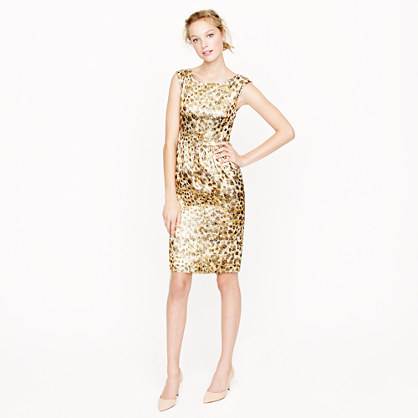 Collection Lucille dress in cheetah brocade