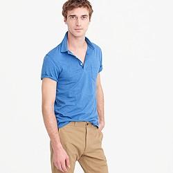 Broken-in pocket polo shirt