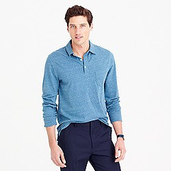 Tall broken-in long-sleeve pocket polo shirt