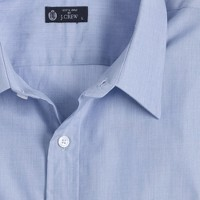 End-on-end point-collar regular-fit dress shirt