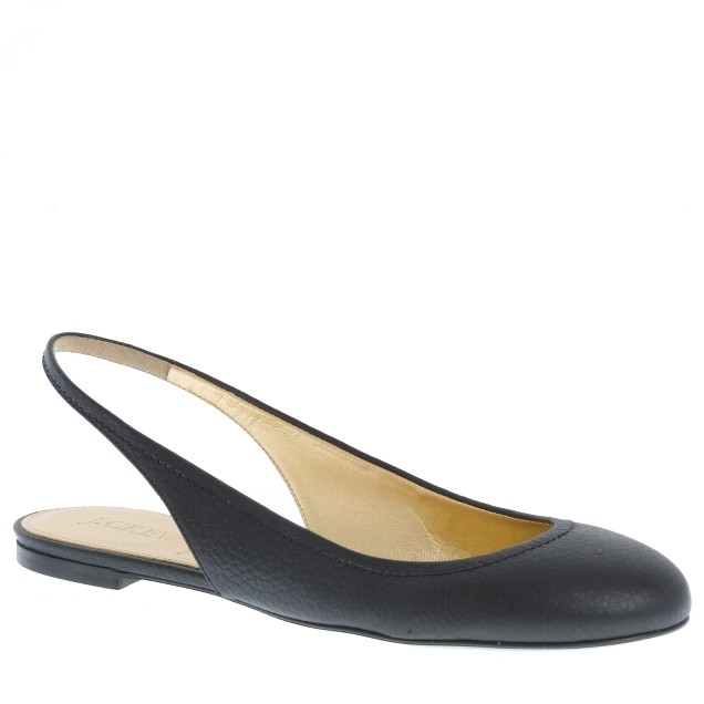 Cate leather slingback flats