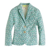 Girls' schoolboy blazer in scattered floral