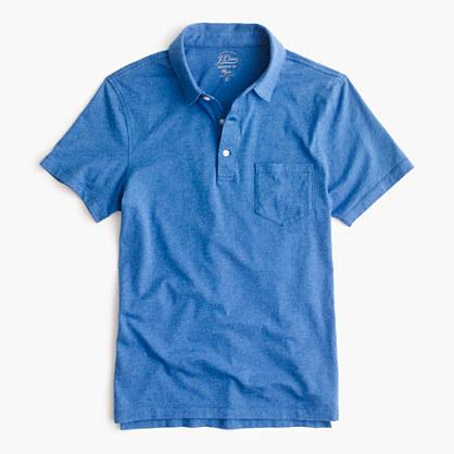 Slim broken-in pocket polo shirt