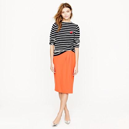 Petite draped skirt