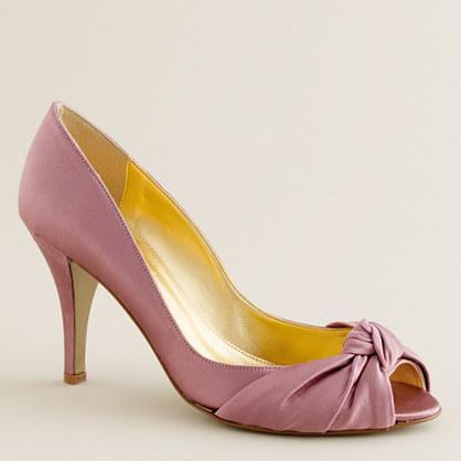 Carmen satin peep toes