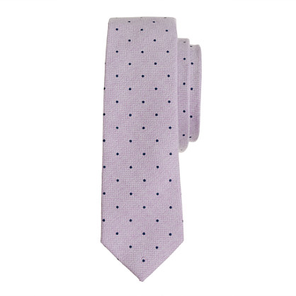 Boys' cotton oxford tie in pindot