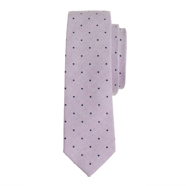 Boys' cotton oxford tie in pindot