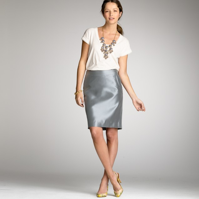 Organza pencil skirt