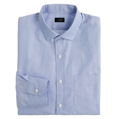 Classic spread-collar shirt in end-on-end