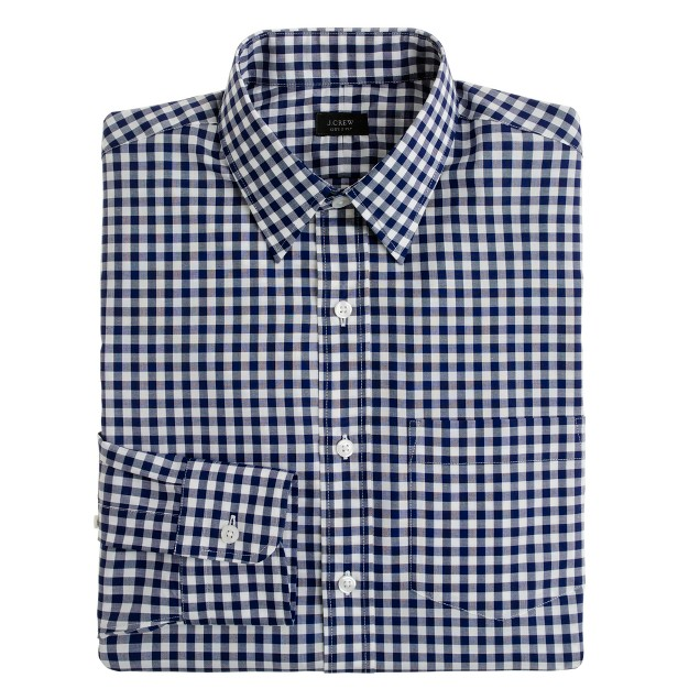 Classic point-collar shirt in medium gingham