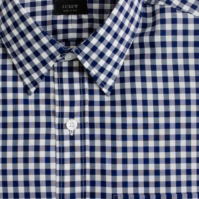 Classic point-collar shirt in medium gingham