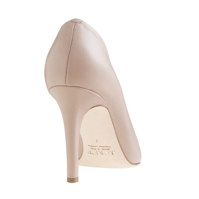 Everly cap toe leather pumps