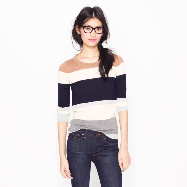 Tippi sweater in colorblock stripe