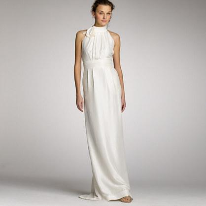 Slub silk Penelope gown