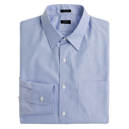 Ludlow point-collar shirt in end-on-end cotton