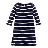Girls' maritime dress in wide stripe