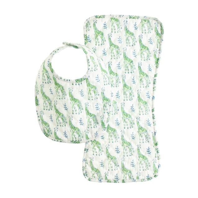baby Rikshaw Design™ burp cloth and bib set