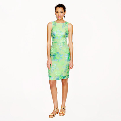 Collection day-glo bloom jacquard dress