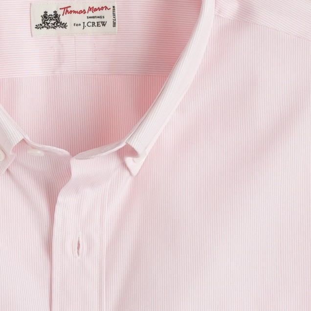 Thomas Mason® for J.Crew button-down dress shirt in microstripe