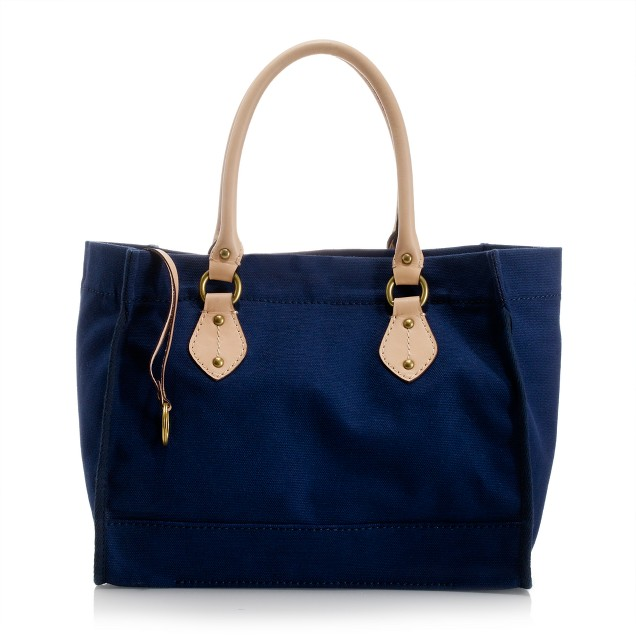 Canvas boardwalk city tote