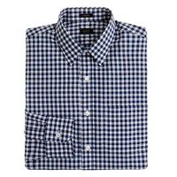 Ludlow point-collar shirt in medium gingham