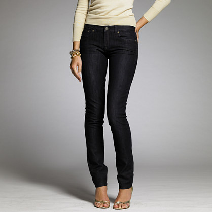 Stretch toothpick jean in midnight wash