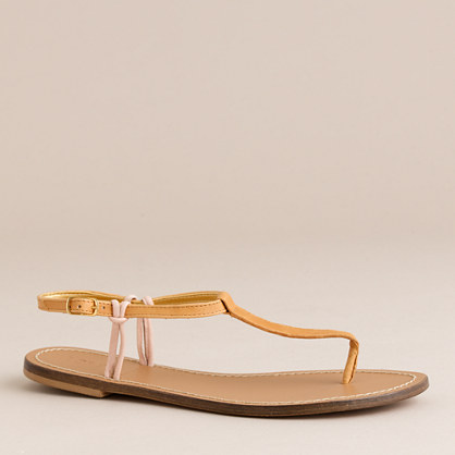 fiona two-color T-strap sandals