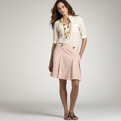 Colored-chambray Wendy skirt