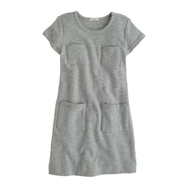 Girls' sweatshirt pocket dress