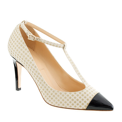 Everly cap toe T-strap pumps