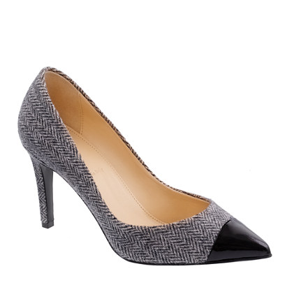 Everly cap toe wool pumps