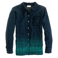 Collection silk sleep shirt in optic-dot