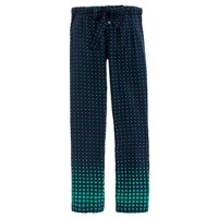 Collection silk pant in optic-dot