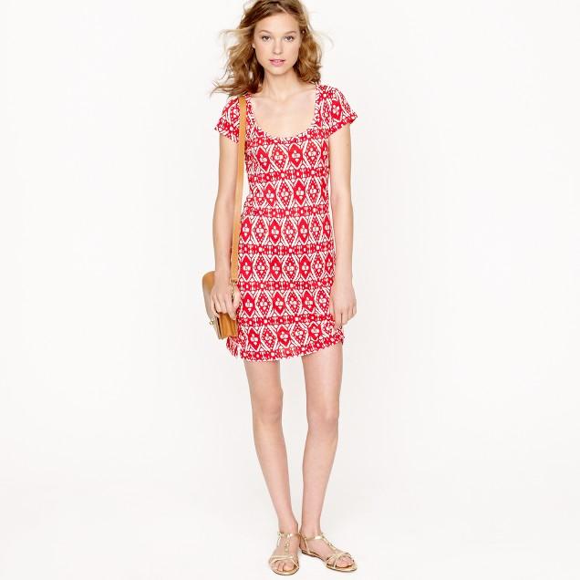 T-shirt dress in ikat print