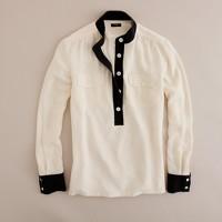 Silk contrast tunic
