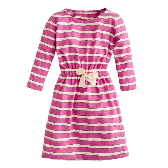 Girls' jitterbug dress in stripe