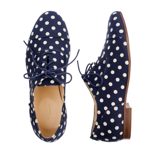 Girls' dot oxfords