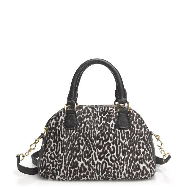 biennial medium satchel in calf hair
