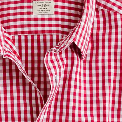 Secret Wash point-collar shirt in large gingham