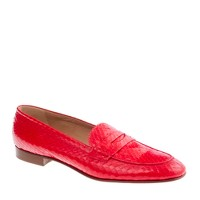 Collection Biella snakeskin loafers