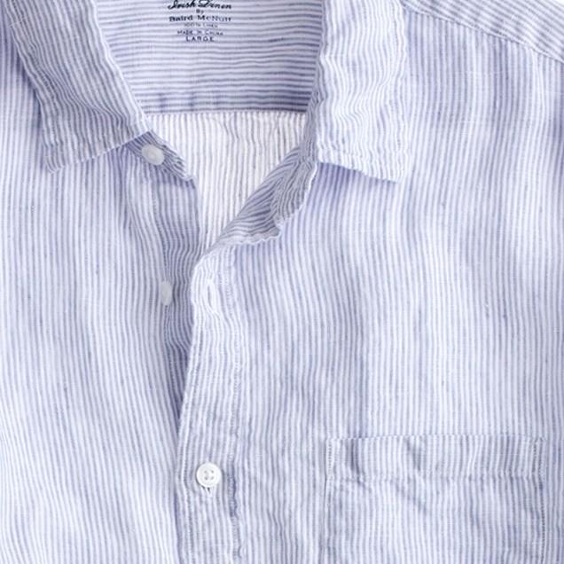 Irish linen shirt in thin stripe