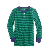 Kids' stripe sleep henley