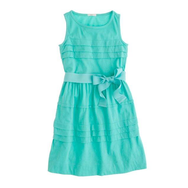 Girls' pintuck jersey dress