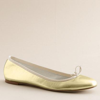 Marjorie metallic leather ballet flats