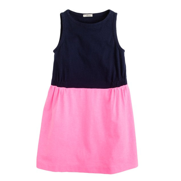 Girls' colorblock shift dress