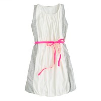 Girls' colorblock bubble dress