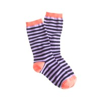 Tipped stripe socks