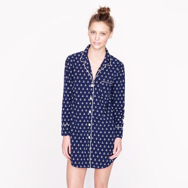 Nightshirt in anchor print