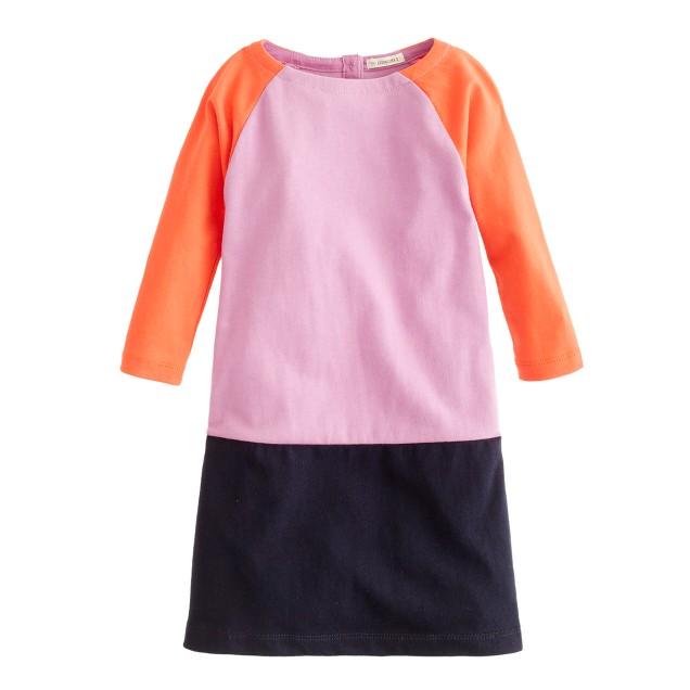 Girls' mini Jules dress in colorblock