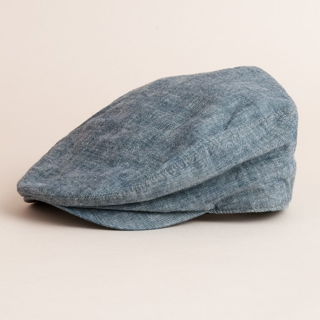Chambray driving cap